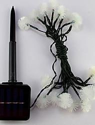 1pc 4.8m 20led luz da corda de energia solar para o casamento festa de Natal levou a iluminação de Natal