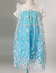 Girl's Party/Cocktail Solid Dress / Clothing SetCotton / Polyester Summer / Spring / Fall Blue / Green / Pink