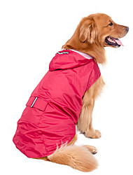 Hunde Regenmantel Rot / Dunkelblau Hundekleidung Winter / Sommer / Frühling/Herbst einfarbig Wasserdicht / Urlaub / Sport / Winddicht
