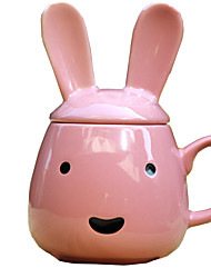 1PC Novelty Gift Cover Band Ceramic Cup Animal Cup Lovely Rabbit Cup