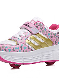 Unisex Boys Girls Sneakers Fall / Winter Roller Skate Shoes Outdoor / Athletic Hook & Loop / Pink / Blue / Skate Shoes