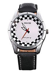 Men's Fashion Quartz Casual Watch Simple Genuine Leather Belt Round Alloy Dial Watch Cool Watch Unique Watch