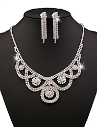 Jewelry-Set  Include(Women Necklace/Earrings)Silver Plated Pearl fashion Occasion Wedding Gifts