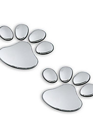 The Car 3D Car Stereo Puppy Footprint Type Metal Paste