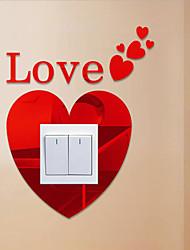 Romance Stickers muraux Stickers muraux 3D / Miroirs Muraux Autocollants Stickers muraux décoratifs / Stickers d'interrupteurs,PVC