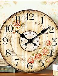 Moderno/Contemporâneo / Tradicional / Retro / Escritório/Negócio Casas / Família / Escola/Graduação Relógio de parede,RedondaPapél /