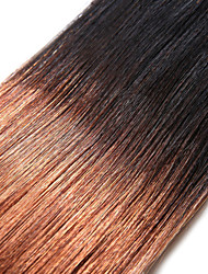 1PC TRES JOLIE Remy Yaki 10-18Inch Color Two Tone Auburn Black Human Hair Weaves