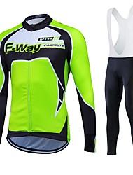 Fastcute Maglia da ciclismo Per uomo Per donna Unisex Manica lunga Bicicletta Calze/Collant/Cosciali Calzamaglia/Salopette/Corsari