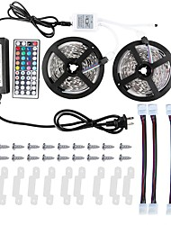 KWB 2 * 5m 5050 RGB-LED-Streifenlichter wasserdicht Kit mit 44key ir Controller und 12v 6a Stromversorgung