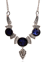 May Polly  European and American fashion retro geometric gem crystal necklace