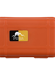 Outdoor Survival Water-Resistant Anti-Shock Sealed Storage Case Container - Black / Orange / Khaki (Small)