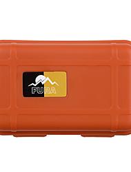 survie en plein air anti-choc cas stockage scellé contenant résistant à l'eau - noir / orange / kaki (petit)