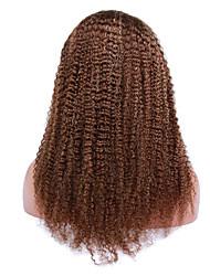 20-24 дюймов курчавый вьющиеся человеческие волосы парики курчавые бразильские фигурных бесклеевой фронта шнурка для чернокожих женщин