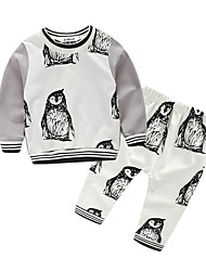 KIMOCAT  Boy's Casual/Daily Print Clothing SetCotton Spring / Fall White-tz878