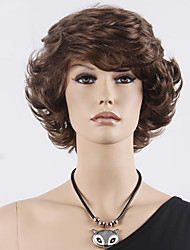 Top Selling Fashion Short Wavy Brown Synthetic Wig for Sexy Lady Synthetic Wigs