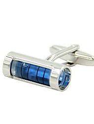 Cufflinks 2pcsColor Block Silver Fashionable Cufflink Men's Jewelry