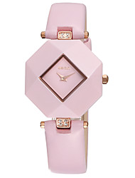 WEIQIN Womens Fashion Ceramic Case Personality Dial Cool Watches Unique Quartz Watch
