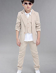 Boys' Formal Solid Sets,Cotton All Seasons Suit & Blazer