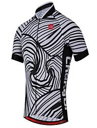 Sportif Maillot de Cyclisme Unisexe Manches courtes VéloRespirable / Séchage rapide / Résistant aux ultraviolets / Limite les Bactéries /