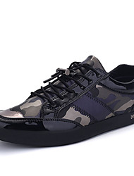 Men's Oxfords Spring Fall Comfort Microfibre Outdoor Casual Flat Heel Lace-up Black Gray Walking
