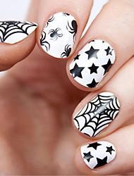 Halloween fluorescentes étanches ongles autocollants sécurité minuit du parti et de la santé en plus de la commodité de 1pc