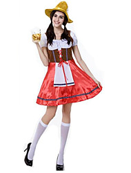 Women's Halloween Oktoberfest Beer Girl Costumes Party Fancy Dress