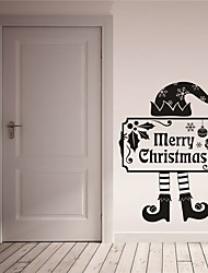 AYA DIY Wall Stickers Wall Decals Merry Christmas Stickers 42*52cm