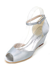 Women's Heels Spring / Summer / Fall Wedges / Peep Toe Silk Wedding / Party & Evening
