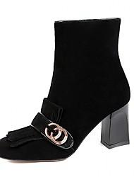 Damen-Stiefel-Hochzeit Outddor Büro Kleid Lässig Party & Festivität-Leder Kunstleder-Blockabsatz-Komfort Neuheit Cowboy / Western Stiefel