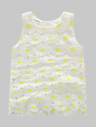 Girl's Casual/Daily Jacquard Tank & CamiCotton Summer White