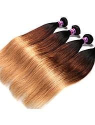 Âmbar Cabelo Brasileiro Retas 12 meses 4 Peças tece cabelo