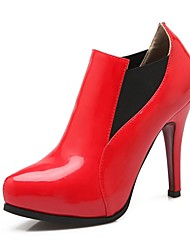 Women's Heels Summer / Pointed Toe Patent Leather Office & Career / Casual Stiletto Heel Split JointBlack / Red /