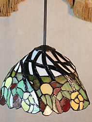 25W Pendant Light   Tiffany / Vintage Painting Feature for Mini Style Metal Bedroom / Entry
