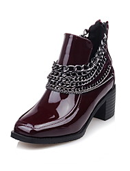Women's Boots Fall / Winter Heels / Riding Boots /  Bootie / Comfort / Combat Boots / Round ToePatent Leather /