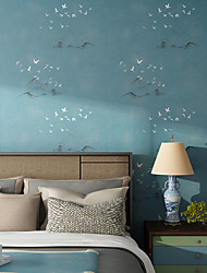 Modern Chinese Wallpaper For Walls Living Room Wallpaper 3D Birds And Hills Wall Paper Roll Bedroom Wallpapers