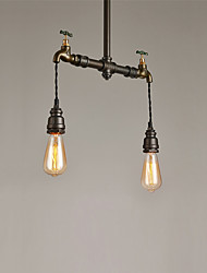 2 Lights Vintage Industrial Simple Loft Metal Pendant Lights Living Room Dining Room Kitchen Cafe Light Fixture
