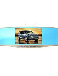 gravador de condução hd 170 grande-angular de 5 polegadas dupla lente ultra slim espelho retrovisor com visão noturna