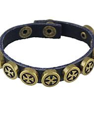 Punk Rock Pu Leather  Wrap Bracelets