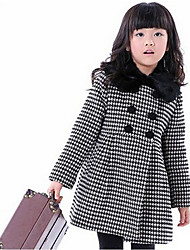 Girl's Casual/Daily Houndstooth DressOthers Winter / Spring / Fall Red / White