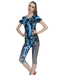 Running Clothing Sets/Suits Women's Short Sleeve Breathable / Quick Dry / Sweat-wicking / Compression Nylon
