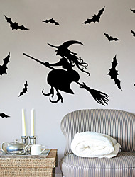 Halloween Witch Wall Sticker Home Decor Vinyl Wall Decal Wall Mural PVC Wall Art