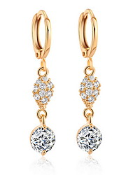 Earring Circle / Others Drop Earrings Jewelry Women Fashion Daily / Casual Alloy / Zircon 1pc Gold