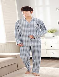 Herren Pyjama - Baumwolle