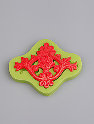 Europe relief lace cake border mold fondant cake silicone molds baking fondant border mold cake tools