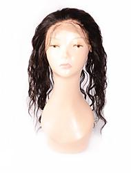360 frontal Ondulation naturelle Cheveux humains Fermeture Brun roux / Marron foncé Dentelle Suisse 95-100g gramme Moyenne Cap Taille