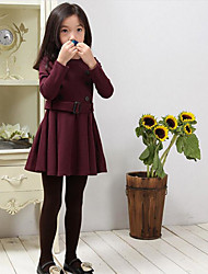 Girl's Casual/Daily Solid SkirtCotton Winter / Spring / Fall Blue / Red