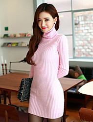 Women's Going out Street chic Sweater DressSolid Turtleneck Above Knee