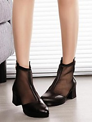 Women's Heels Summer Leather Casual Low Heel Others Black Others