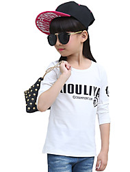 Girl's Casual/Daily Print BlouseCotton Fall Black / White / Yellow