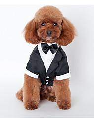Собака Инвентарь Одежда для собак Свадьба Английский Черный